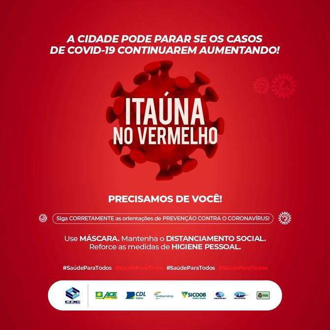 """Prefeitura e CDE retomam campanha """"Itaúna no Vermelho"""""""