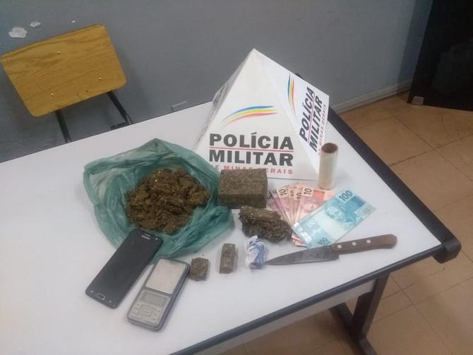 Autor de tráfico de drogas é preso pela Polícia Militar de Itaúna