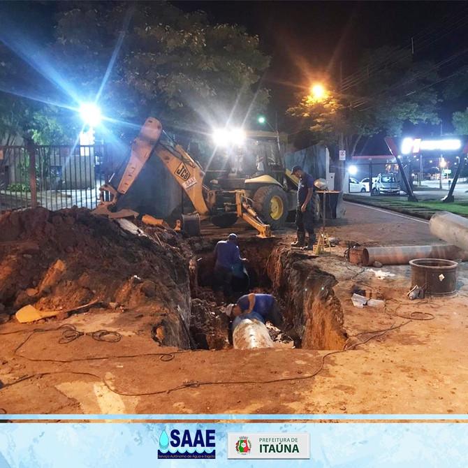Saae informa Rompimento adutora Av.Jove Soares