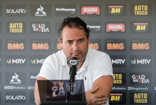 Mesmo preocupado com pós-covid-19, Mattos quer Atlético protagonista no Brasileirão