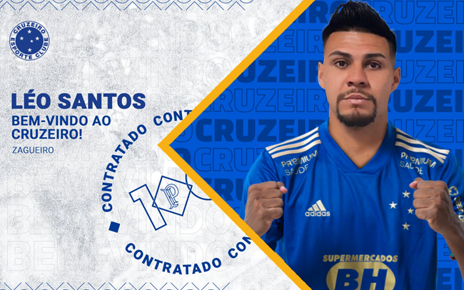 Cruzeiro oficializa contratação de zagueiro Léo Santos, que já pode estrear