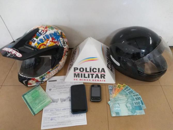Autores de roubo são presos pela Polícia Militar de Itaúna