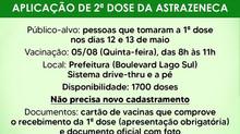 Aplicação de 2ª dose da AstraZeneca contra a Covid em Itaúna