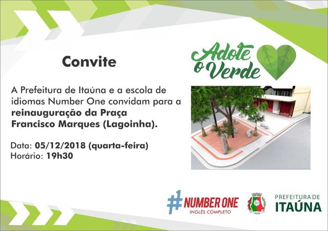 Prefeitura e Escola de Idiomas Number One marcam entrega da Praça da Lagoinha revitalizada à comunid