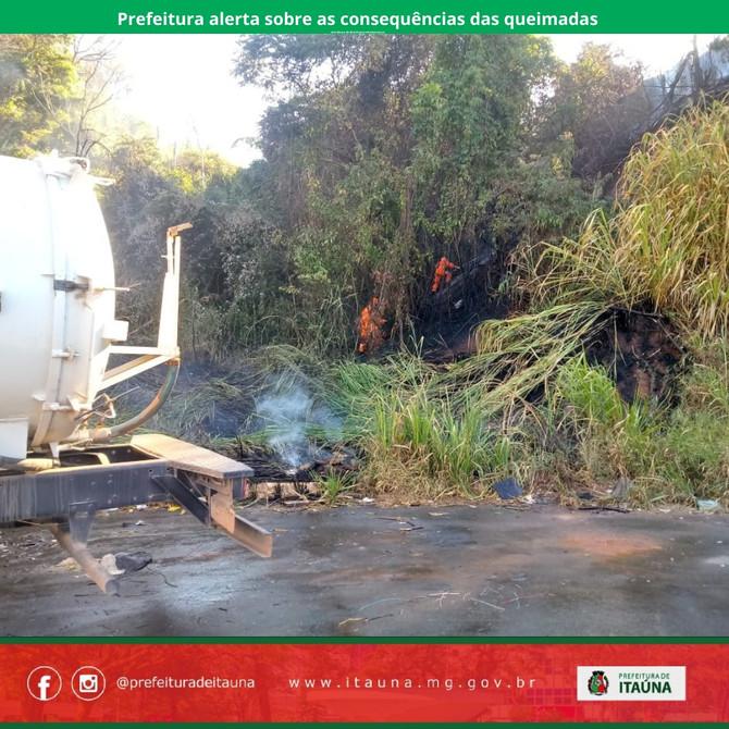 Prefeitura alerta sobre as consequências das queimadas