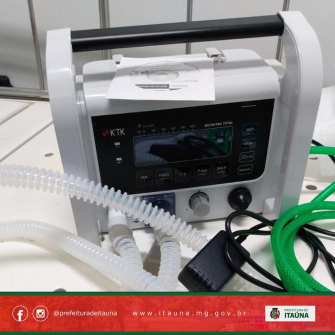 Itaúna recebe três respiradores artificiais do Ministério da Saúde
