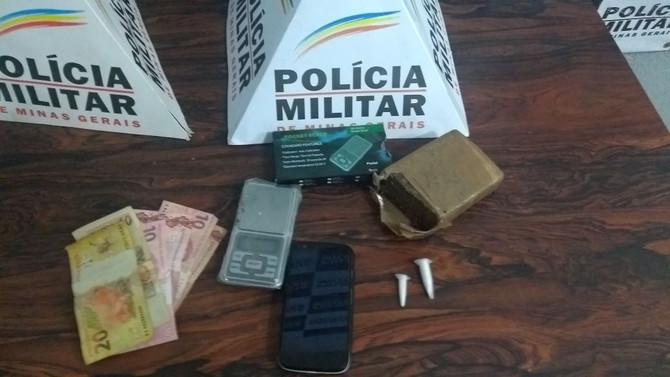 Durante operação policial, militares prendem autor de tráfico de drogas