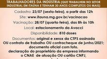 Vacinação Covid em Itaúna abrirá mais dois cadastros nesta sexta-feira