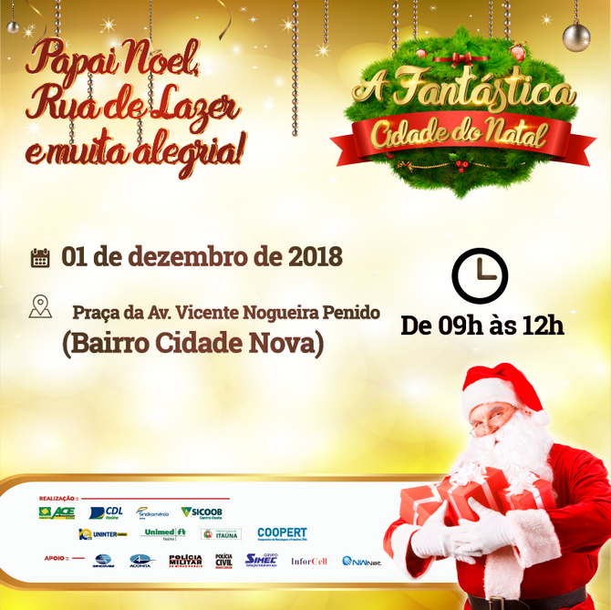 """Sábado tem """"Natal Itinerante"""" no Cidade Nova e região"""