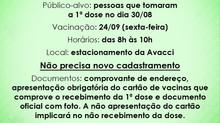 Aplicação de 2ª dose da Coronavac