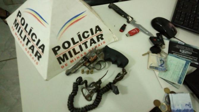 Polícia Militar prende autores com arma de fogo em Itatiaiuçu