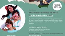 """Diversão em Cena tem espetáculo """"O Fantástico Mundo de Alice"""" nopróximo domingo, 24"""