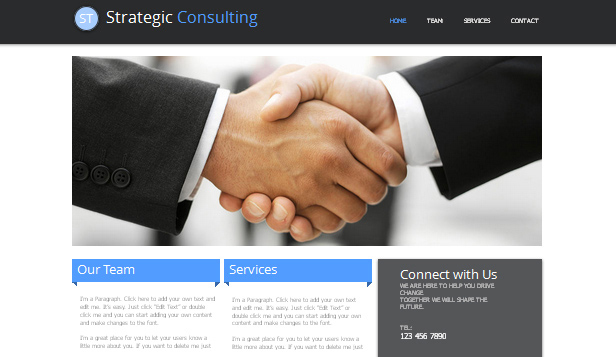 Consulting og coaching website templates – Strategisk konsulentvirksomhet