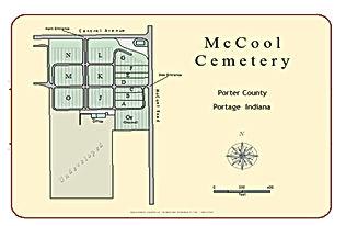 McCool Cemetery Map
