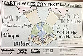 Earth Week Coloring Contest Drawing