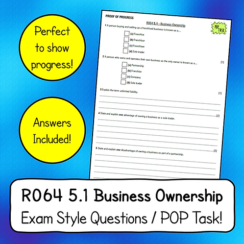 R064 LO5 - Business Ownership Question Sheet
