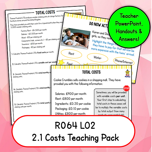 R064 2.1 Teaching Pack (Costs)