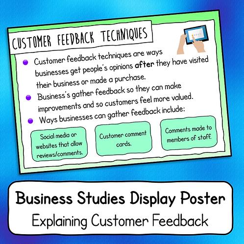 Explaining Customer Feedback Poster / Handout