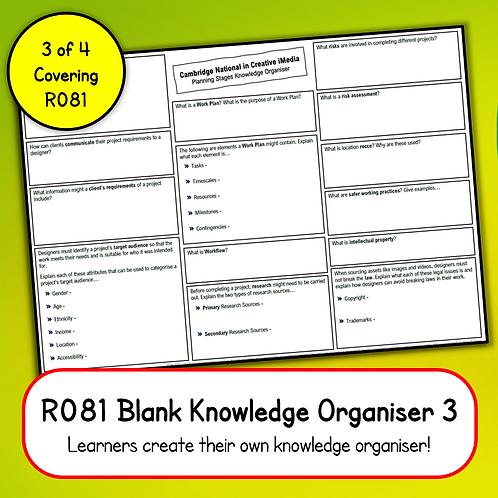 R081 Blank Knowledge Organiser 3 (Printable OR Complete Online)