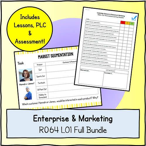 R064 LO1 Teaching + Assessment Pack Bundle