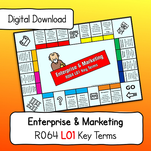 R064 LO1 Key Terms Display Poster / Handout