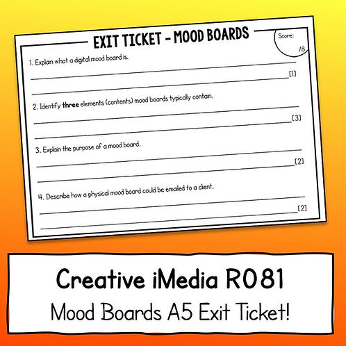 Creative iMedia Mood Boards A5 Exit Ticket
