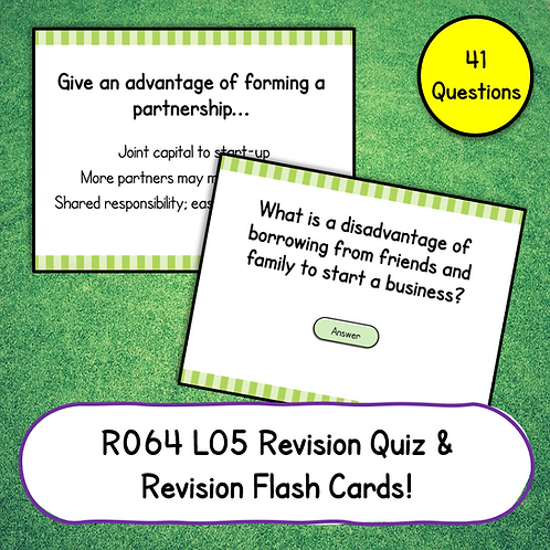 R064 LO5 Revision Quiz / Flash Cards