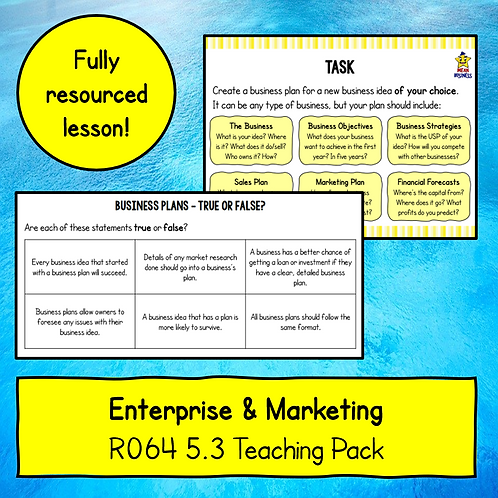 R064 5.3 Teaching Pack (Business Plans)