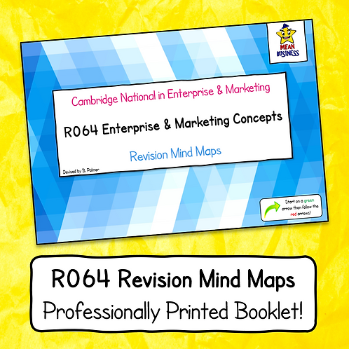 R064 Mind Map Booklet (Professionally Printed)
