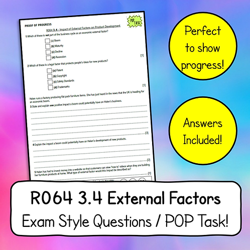R064 3.4 External Factors Exam Style Questions & Answers