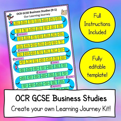 OCR GCSE Business Studies Create a Learning Journey Kit