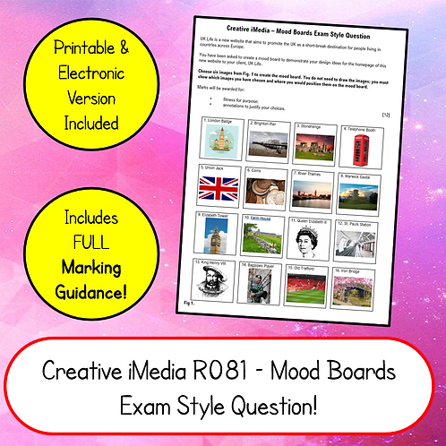 iMedia R081 Mood Boards Exam Style Question & Mark Scheme