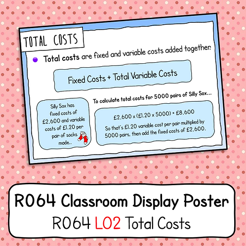 R064 LO2 - Explaining Total Costs Poster / Handout