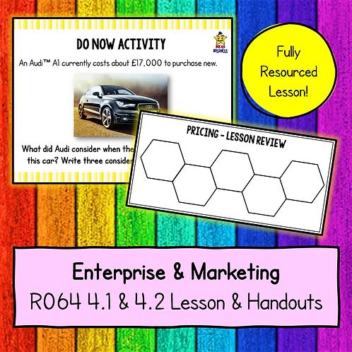 R064 4.1 & 4.2 Teaching Pack (Pricing)