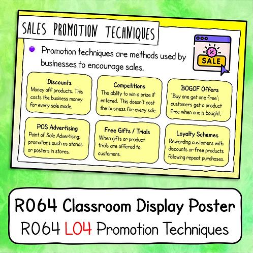 R064 LO4 - Explaining Promotion Poster / Handout