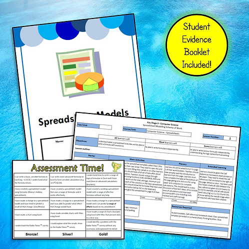 KS2/3 Spreadsheets Student Booklet & Scheme of Work