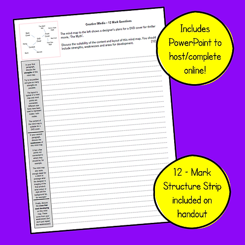iMedia R081 - Mind Map 12 Mark Question & Structure Strip