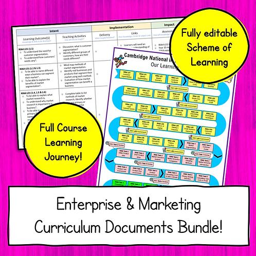 Enterprise & Marketing Curriculum Planning Documents Bundle