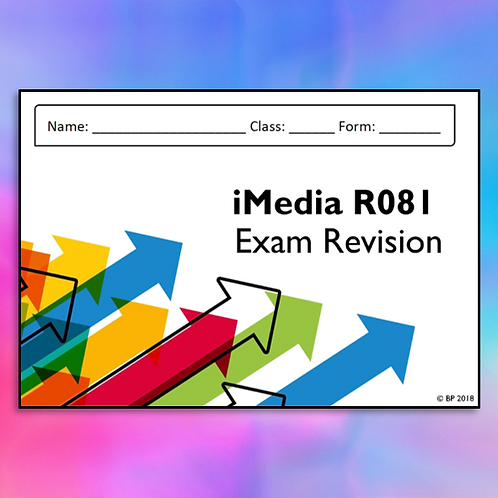 Creative iMedia R081 Revision Notes