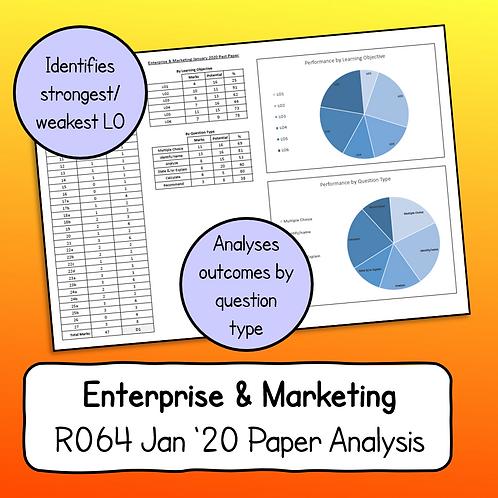 R064 January 2020 Paper Analysis