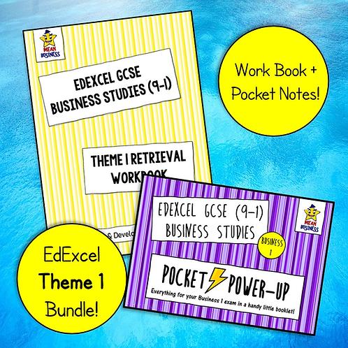 EdExcel GCSE Business Theme 1 Bundle (Pocket Notes + Retrieval Booklet)