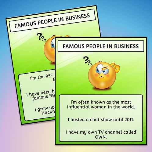 Display: Famous People in Business (Free)