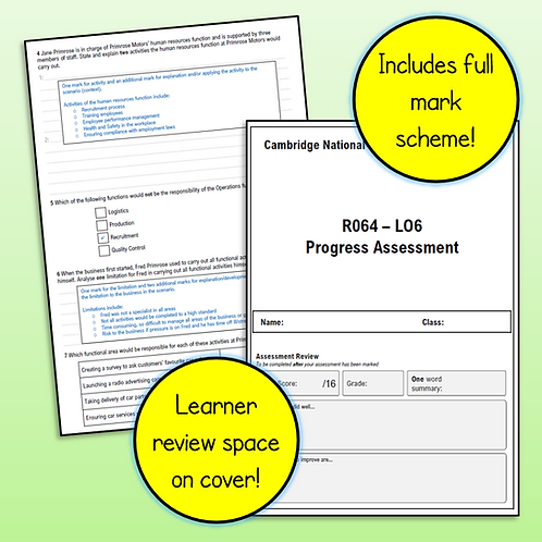 R064 LO6 Test / Progress Assessment