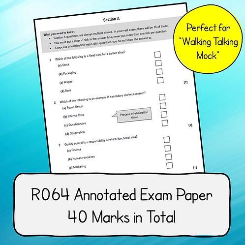 R064 Half Mock Exam Paper - Annotated / Walking Talking Mock