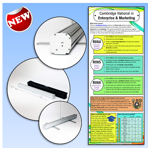 Enterprise & Marketing Course Information Roller Banner
