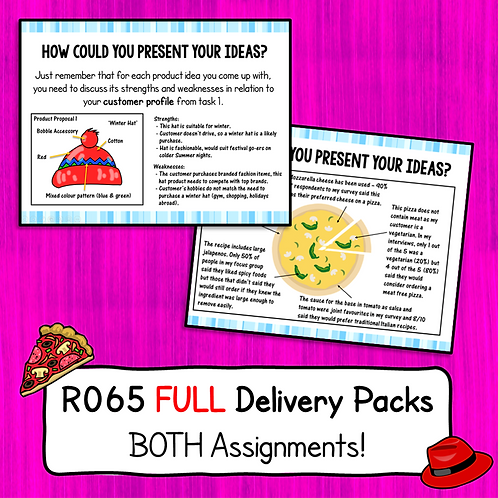 R065 FULL Delivery Packs (Both Scenarios!)