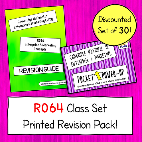 R064 Printed Revision Bundle - Class Set