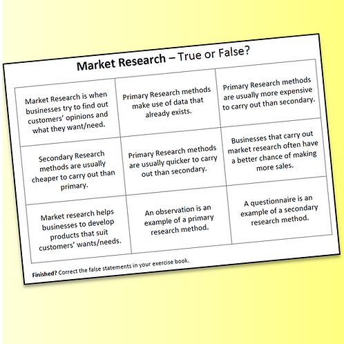 Market Research Starter Activity (Free)