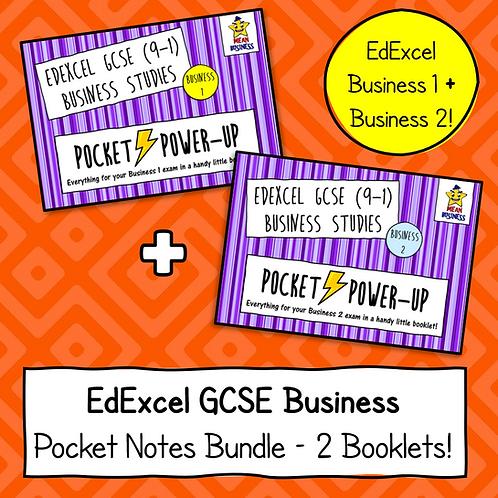 """EdExcel GCSE Business Studies """"Pocket Power-Up"""" A6 Booklet Bundle!"""