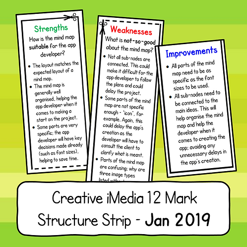 R081 - 12 Mark Structure Strip (January 2019 Paper)
